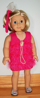Headband 18 in Doll Clothes Fit American Girl Doll Flapper Costume Dress Boa