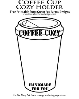 Free Printable Cup Cozy Holder to display your finished cozy! Download on my blog for free.
