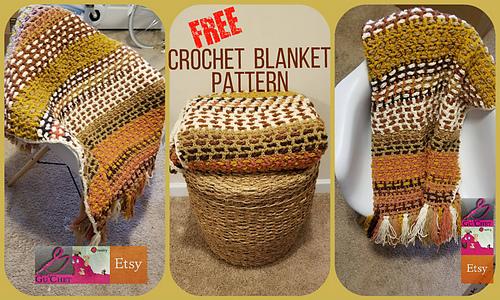 Crochet Fall Blanket by GuChet 1