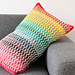 Rainbow wave pillow pattern