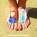Princess Barefoot Sandals - Frozen Anna & Elsa pattern