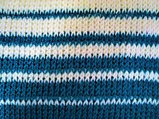 Tunisian Knit Stitch in Graduated Stripes