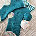 Diamond River Socks pattern