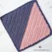 C2C Colorblock Square pattern