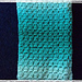Brick style Crochet Ombre Baby Blanket pattern
