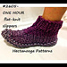 2605- One-Hour Flat-Knit Slippers pattern