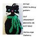 2762 - HALLOWEEN CAT KEY RING pattern
