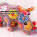 Thandi the African Flower Rhino Crochet pattern pattern