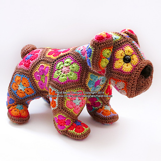 Ravelry: Loxodonta & Elephas the african flower elephants pattern ... | 320x320