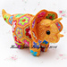 Plod the African Flower Triceratops pattern