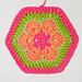 African Flower Hexagon pattern