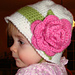 Banded Floral Cloche  pattern