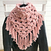 Chunky tassels shawl pattern