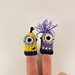 Minion inspired finger puppets pattern