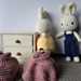 Bunny rabbit and her clothes pattern