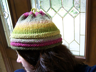 Noro ribbed hat side