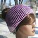 My Messy Bun Hat pattern