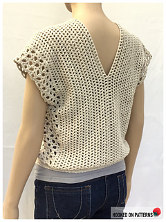 Leora Multi Style Summer Top - Open Front Back View
