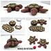 Turtle & Tortoise Hideaway Coaster Sets pattern