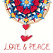 LOVE & PEACE Mandala pattern