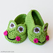 Frog Baby Booties pattern