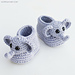 Ellie The Elephant Baby Booties pattern