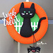Halloween Black Cat Wreath pattern