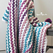 Cluster V-Stitch Blanket pattern