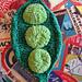 Pea Pod Washcloth pattern