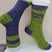 Monogram Sock pattern