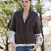 Cozy Cables and Eyelets Cardigan pattern