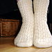 Diamond Rib Socks from the Toe-Up pattern