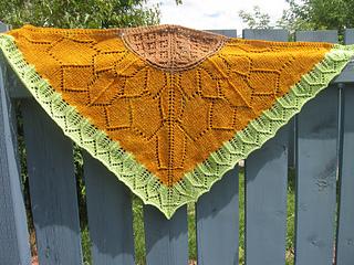 Sunflower field shawl