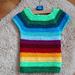 Rainbow vest toddler pattern