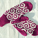Machine knit mittens pattern