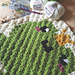 Frog King Baby Blanket (C2C) pattern