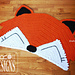 Fox Rug Nursery Mat pattern