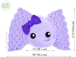 Josefina and Jeffery Elephant Pillow PDF Crochet Pattern | 240x320