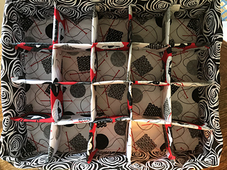 """Grid layout for 20 yarn balls. 3"""" sq. Removable"""