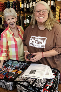 Showing off to Karen at Knitting Temptations 8/7/19