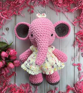 Little elephant crochet pattern | 320x286