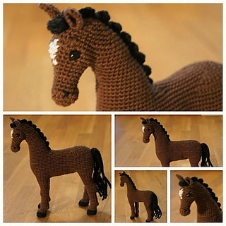 Free Crochet Horse Pattern, make it'd be cool to learn | Crochet ... | 320x320