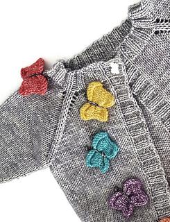 Butterflies and rainbows cardigan jane burns