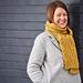Yellow Wagtail scarf pattern