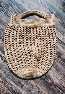 Hazel Market Bag: Large Size with the Double Short Handles