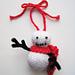 Frosty Little Guy Snowman Ornament pattern