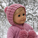 """Winter Poms"" 18"" Doll Hat pattern"