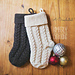 Braided Cables Christmas Stocking pattern