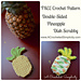 Double-Sided Pineapple Dish, Face or Body Scrubby pattern