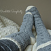 Big Bold Cabled Slipper Socks & Footies (Adult) pattern